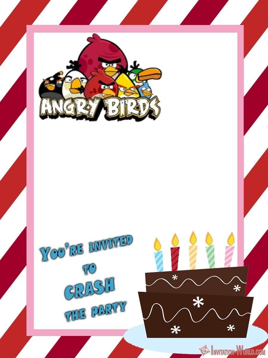 8 Free Angry Birds Invitation Templates Invitation World Bird Birthday Invitations Free Birthday Invitations Birthday Party Invitations Free