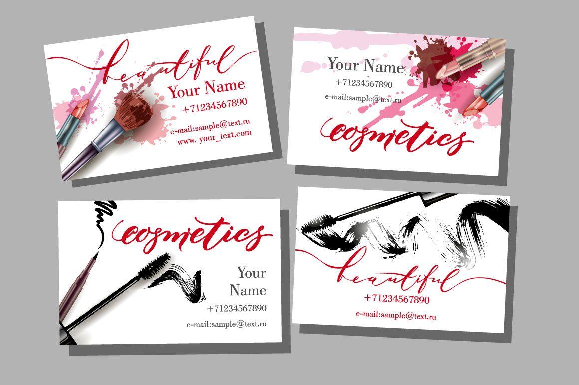Set of makeup artist business card makeup artist business cards set of makeup artist business card by gulnara khadeeva on creativemarket colourmoves