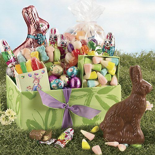 love food gifts pinterest special delivery deliver this gift of colorfully wrapped boxes full of scrumptious easter treats to their home and wow them with sheer abundance negle Images