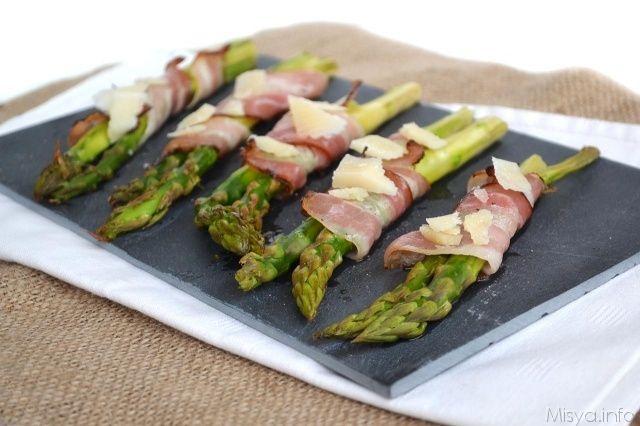 Ricette Asparagi Misya.Asparagi Avvolti In Pancetta Ricetta Ricette Idee Alimentari Asparagi