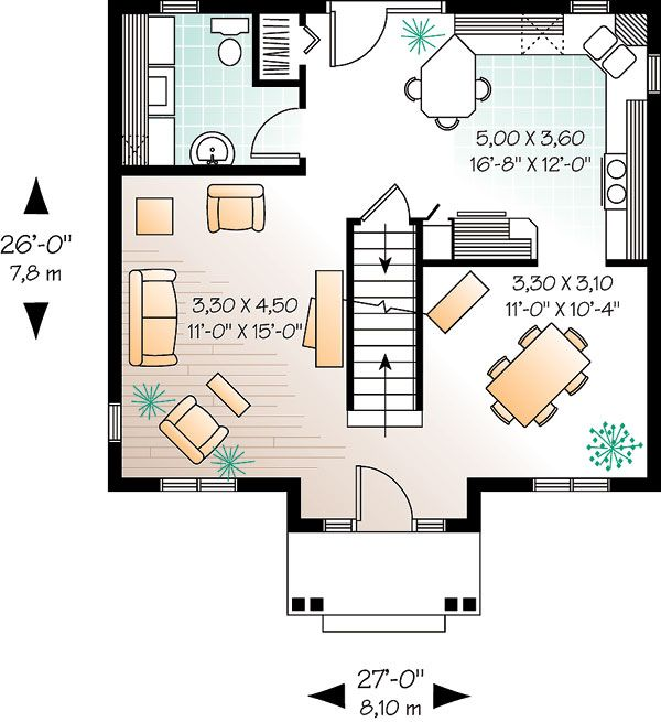 26 Ft Wide House Plans Colonial House Plans Colonial Style Homes