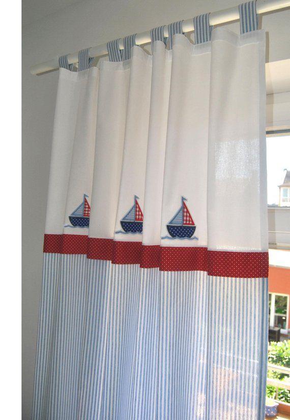 Gardine Vorhang Kinderzimmer Marine Vorhang kinderzimmer