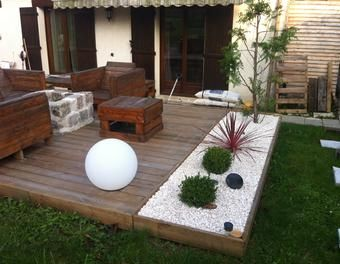 Am nagement d 39 une terrasse brasero d co jardin ext rieur for Idee terrassement exterieur
