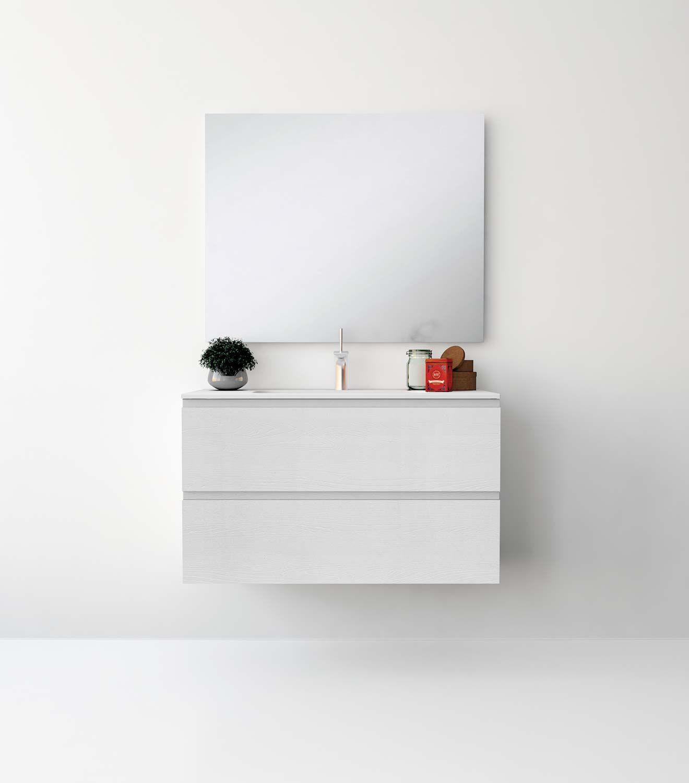 UNIBA O Pack Ba o Mueble de ba o con encimera de cm y mueble
