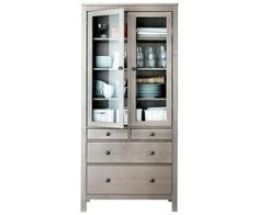Cabinet With Glass Doors And Drawers Google Search
