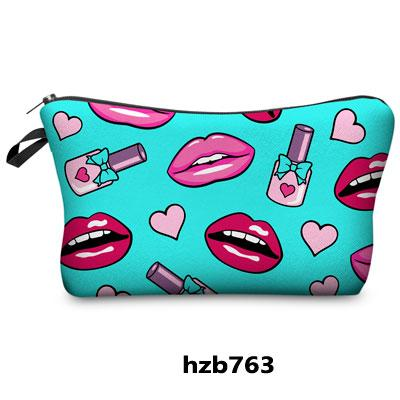 e23bc8723a77 Jom Tokoy 3D Printing Makeup Bags Multicolor Pattern Cute Cosmetics ...
