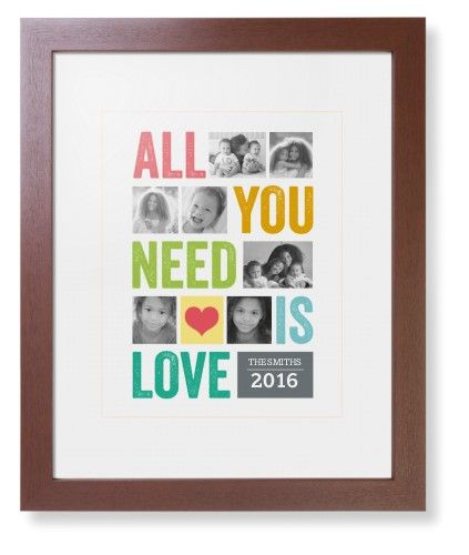 All You Need Is Love Framed Print, Brown, Contemporary, Cream, White, Single piece, 11 x 14 inches