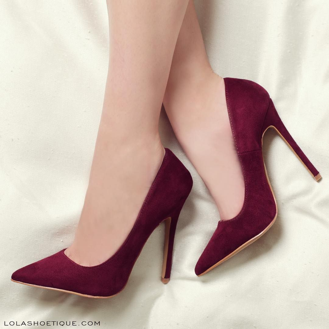 Womens Plum Colored Dress Shoes