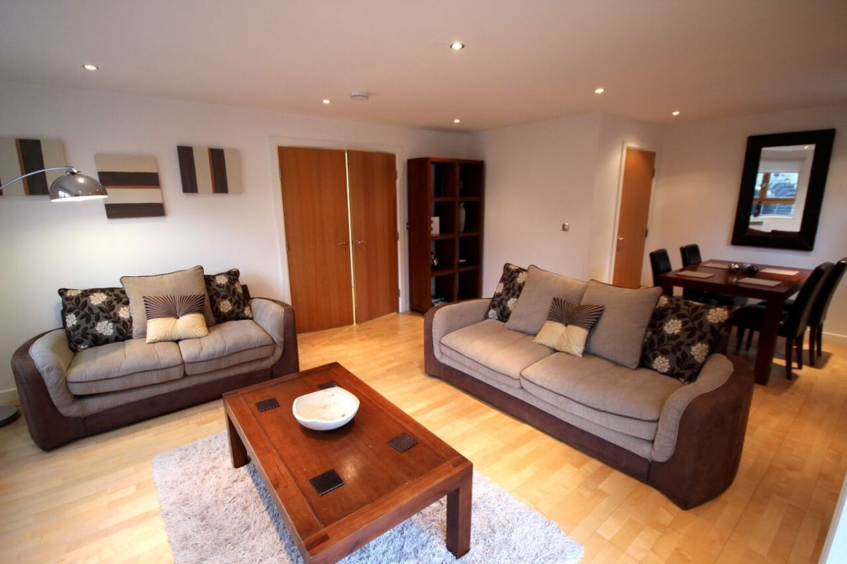 Living Area, Manor Chare Serviced Apartments, Newcastle