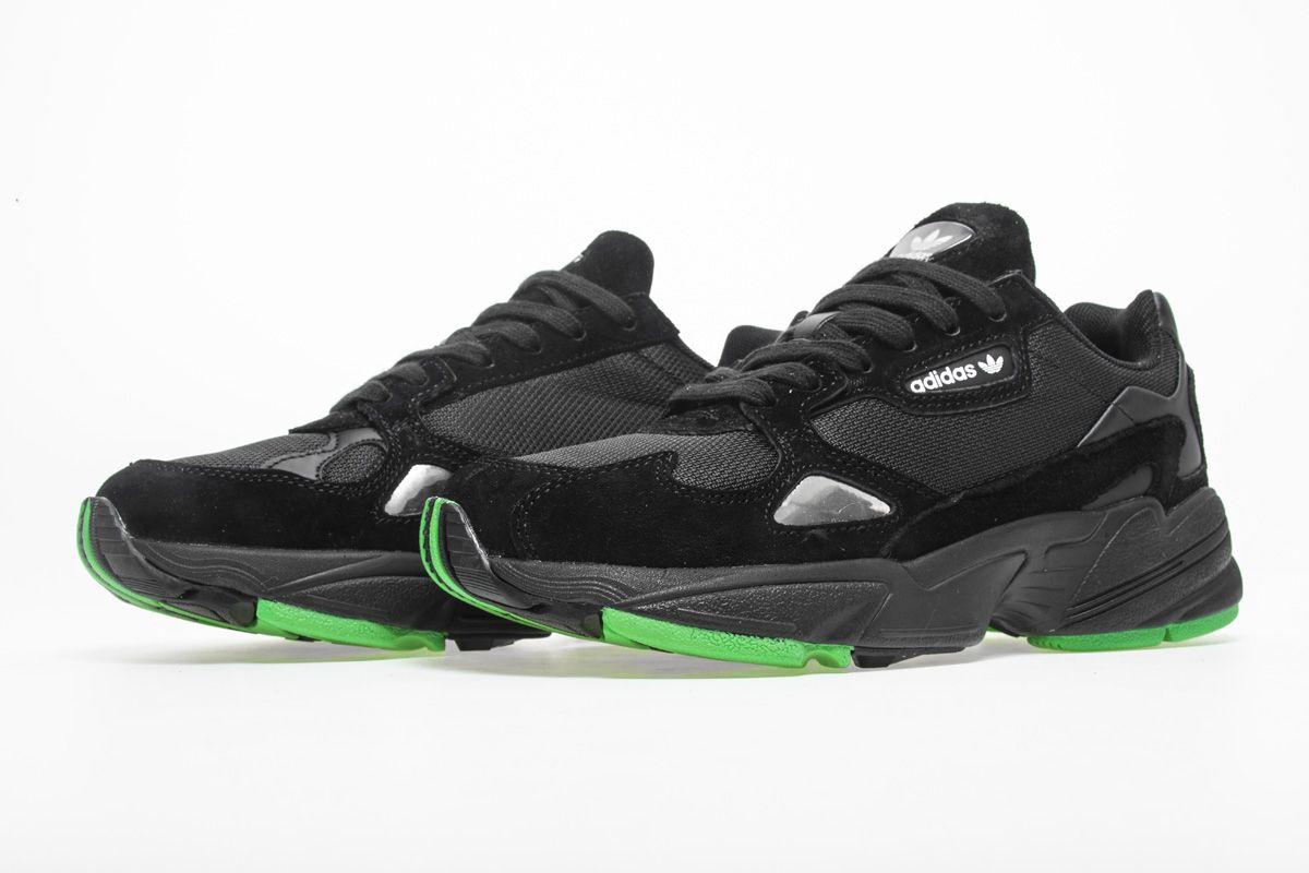 Adidas Falcon W YUNG-2 Black Green BB9179 Sneaker 4  2c2fc29ad