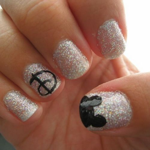 nail designs disney christmas | ... pictures here nail designs tips cute disney  nail art picture gallery - 20 Puuuurfect Cat Manicures Nail Designs For Catlovers Nail