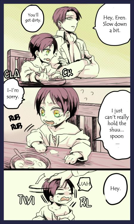 Attack on Titan - Little Eren, Mikasa, Armin, Levi, and Hanji : Hanji's…