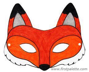 Fox Mask And Other Free Printable Animal Masks Tiermasken Basteln Masken Basteln Masken Kinder