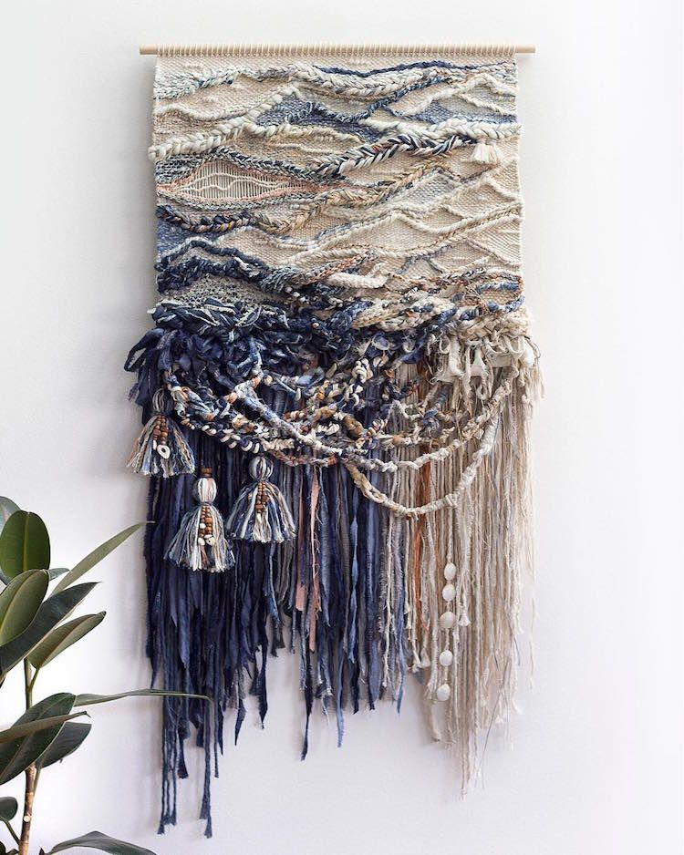 Sister Duo Weaves Textured Wall Hangings Inspired By Australian Landscapes Fiber Art Wall Hanging Diy Weaving Textile Wall Art