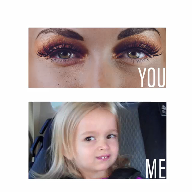 When someone who can't wear fake eyelashes properly tries to give you makeup advice.⁣ 🤷🏻‍♀️🤷🏻‍♀️ ⁣ ⁣ ⁣ ⁣ ⁣ #ArisonLashes #fakeeyelashes #fakelashes #falselashes #lashquote #eyelashes #makeupmeme