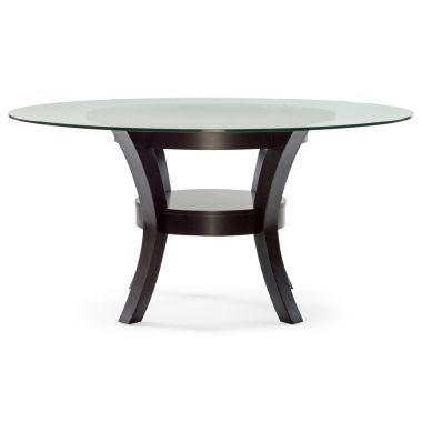 porter round glass dining table found at @jcpenney. white chairs