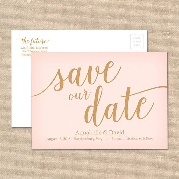 DIY Save The Date Printable Editable Wedding Save The Date - Diy save the dates templates