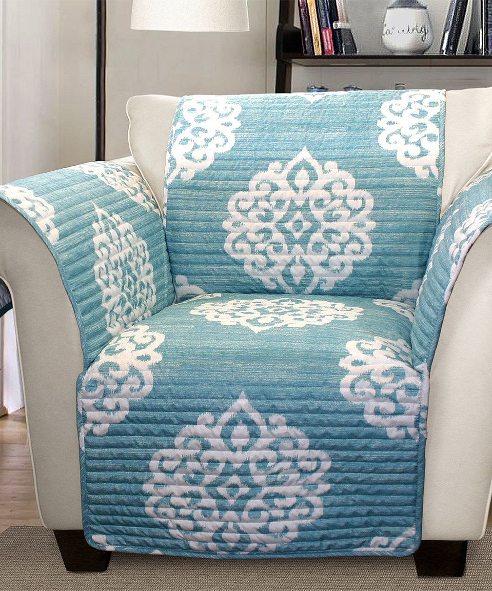 Lovely Blue Kristen Armchair Protector By Lush Décor #zulilyfinds
