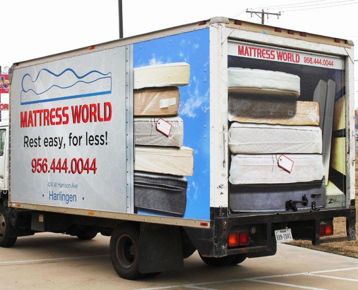 Mattress Delivery Box Truck Wrap Trucks Custom Truck Beds