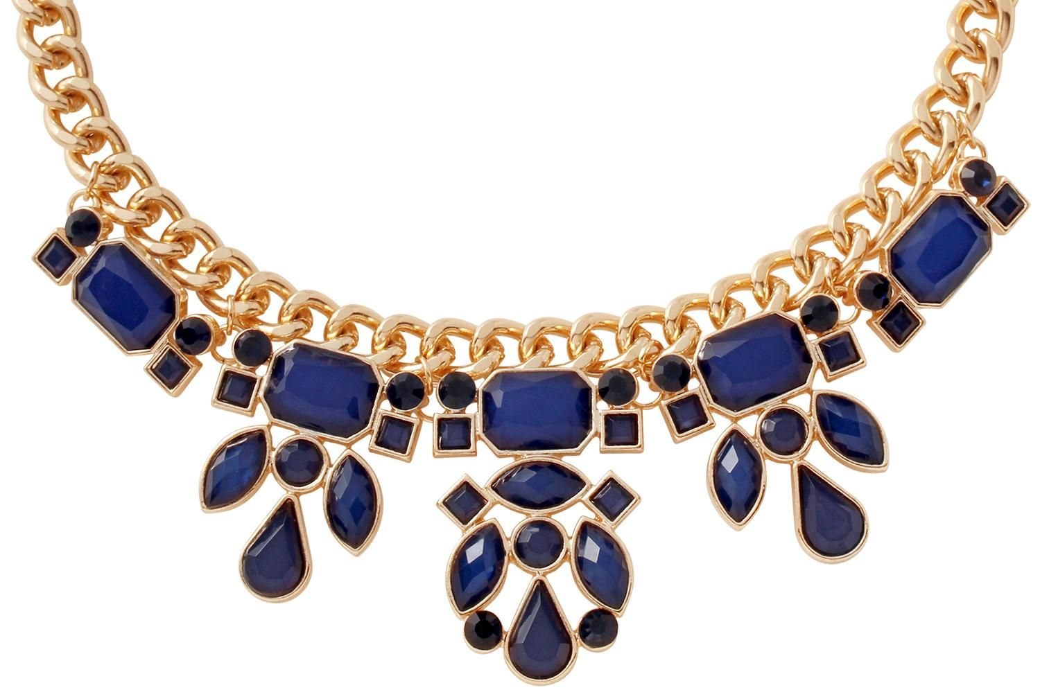 Bijou Brigitte  Kette - Blue and Gold