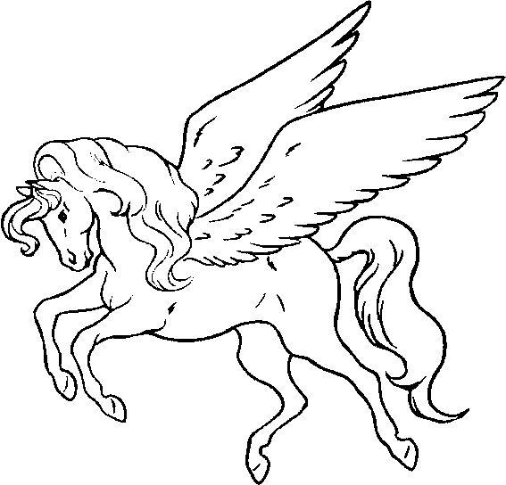 Kleurplaten Paard Met Vleugels.Fantasy Kleurplaten 39 Paarden Kleurplaten Kleurplaten