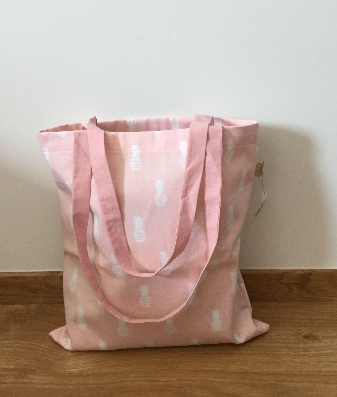Tote bag rose ananas : Autres sacs par nais