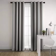 Paleo 180x250cm Blockout Eyelet Curtain With Sheers Underneath