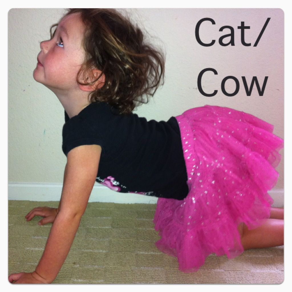 Cat Cow Pose Girl