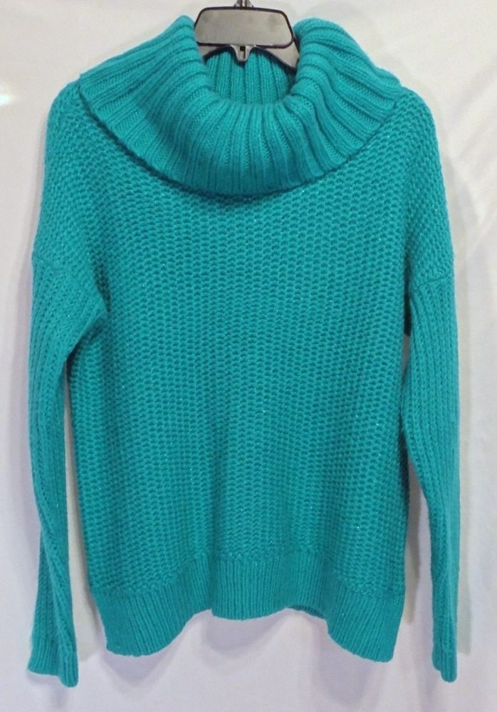 NEW WITH TAGS! St. John's Bay Misses Medium Turquoise Turtleneck ...