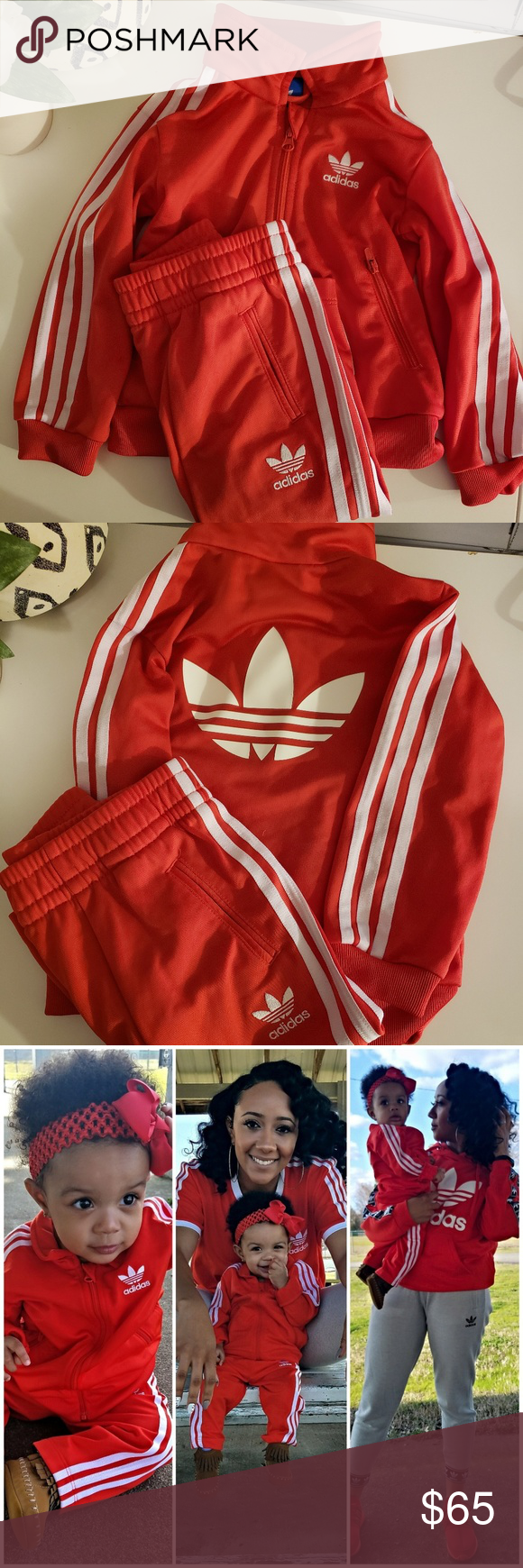 e87a94e5 Infant Adidas Originals Tracksuit The Brand With 3 Stripes. The Classic  Adidas Originals tracksuit,