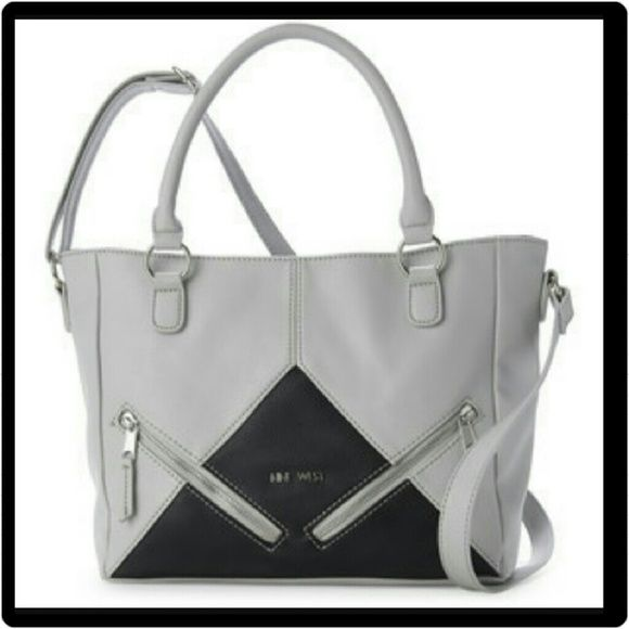 """NWT nine west tri-angular satchel Simple yet very attractive at the same time. Measures approximately 12 x 9 x 4"""".  NOT too big, not too small. JUST THE PERFECT size!  Definitely must have.    Price firm as posh takes 20 %. Thanks for understanding ;-)Happy poshing ;-) Nine West Bags Satchels"""