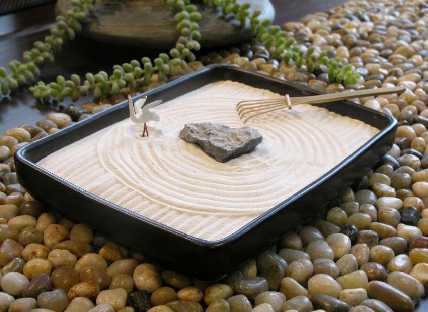 Terrazzo in stile giapponese il giardino zen