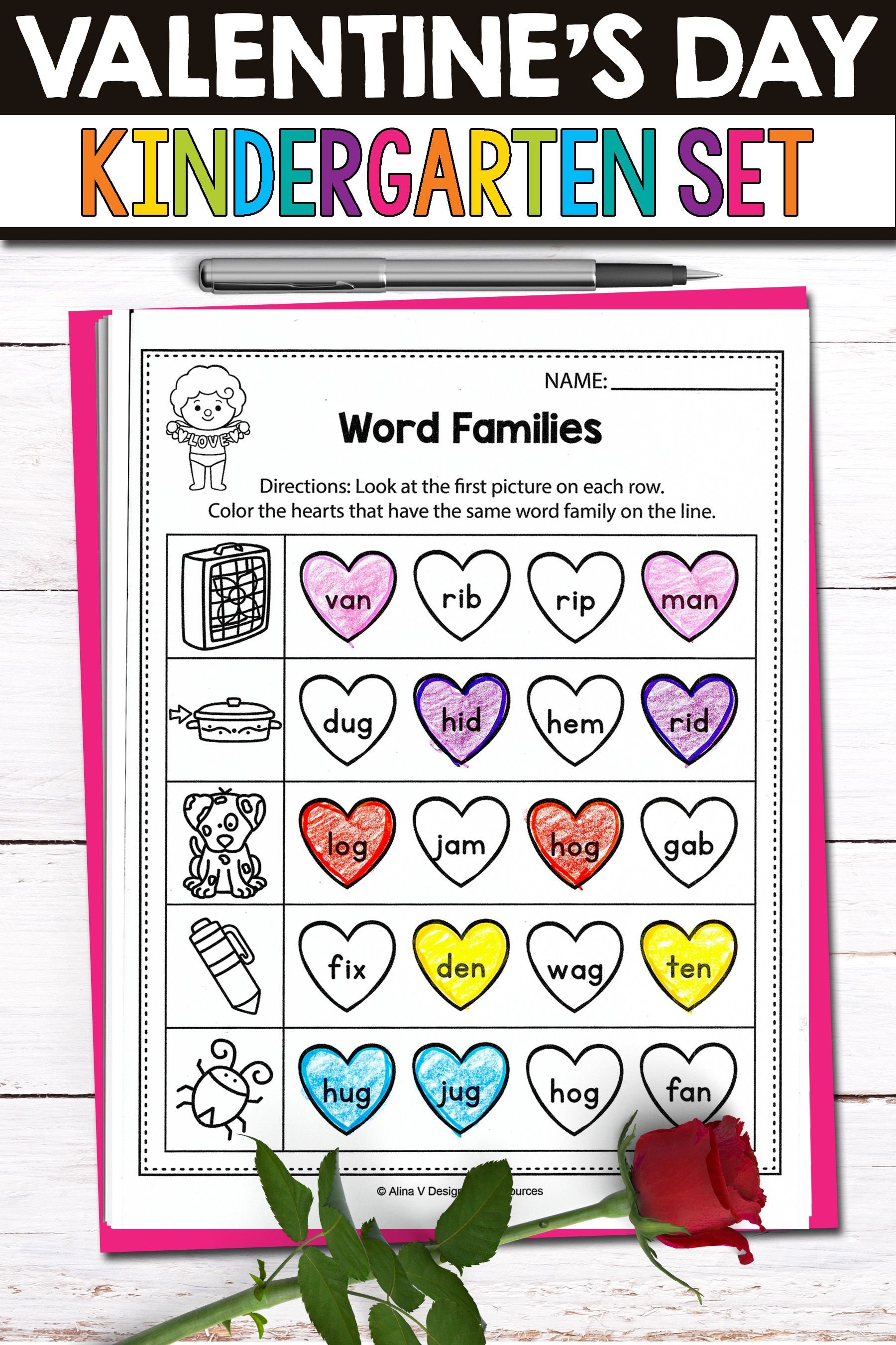 Fun Valentine Worksheets Literacy Activities And