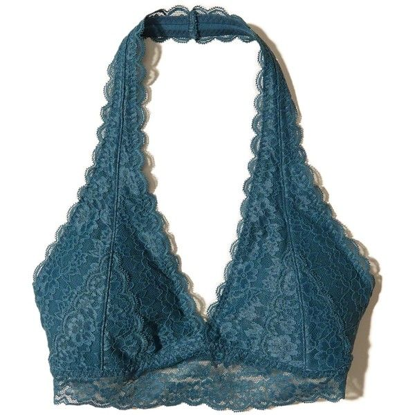 665a86d519d Hollister Removable-Pads Lace Halter Bralette ( 17) ❤ liked on Polyvore  featuring intimates
