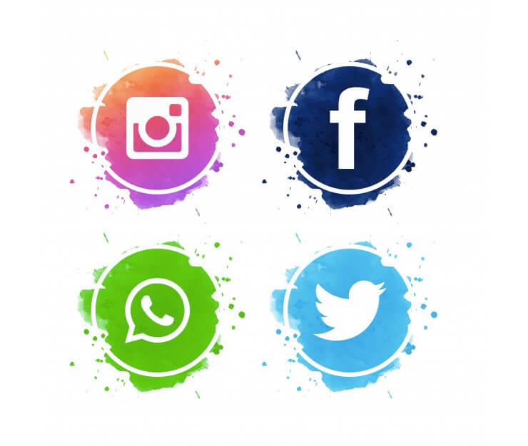 63 Fantastic Free Social Media Icon Sets For Your Website Social Media Icons Free Social Media Icons Social Media Logos