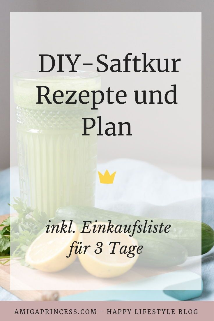 Saftkur Rezepte für 3 Tage - inkl. Einkaufsliste und Plan -