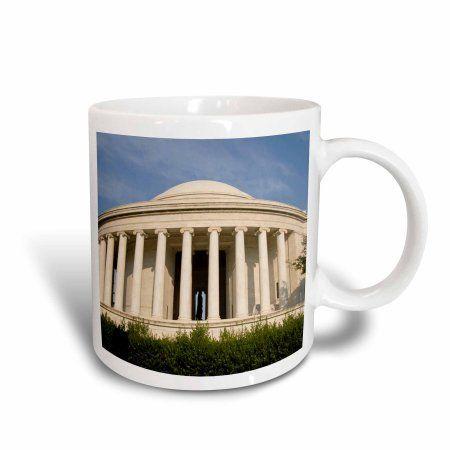 3dRose USA, Washington DC, Thomas Jefferson Memorial - US09 LFO0217 - Lee Foster, Ceramic Mug, 15-ounce