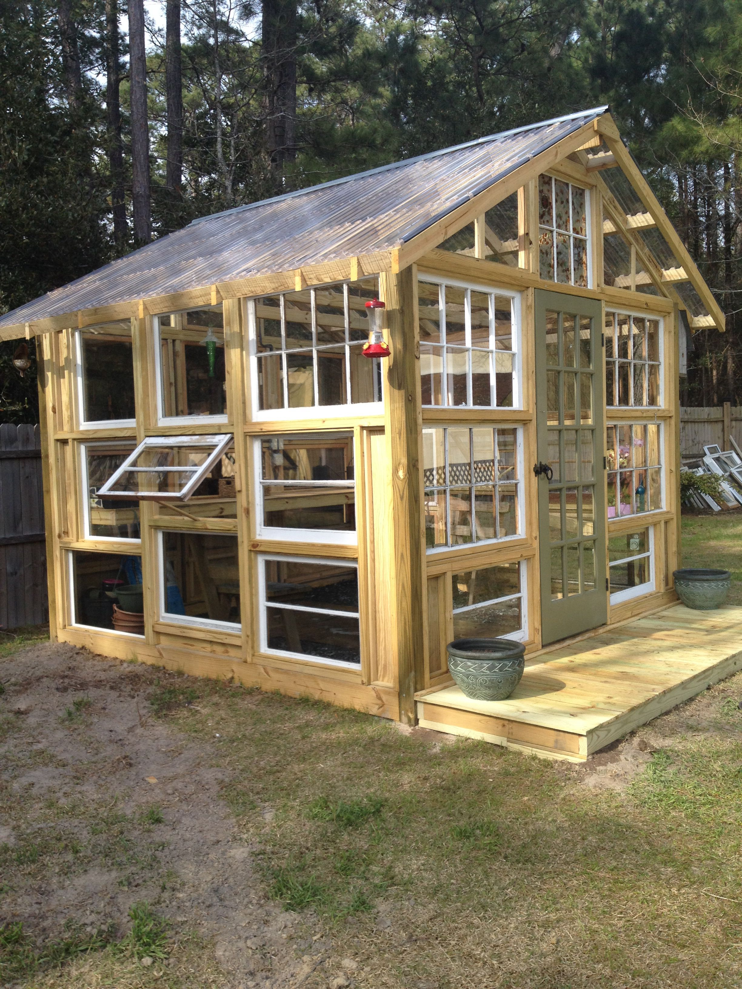 gallery of a few hinged windows green house made from used windows
