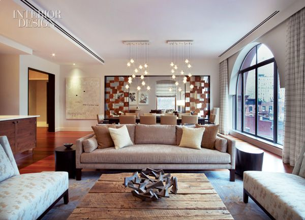Earthy contemporary modern rustic touches apartment in - Modern rustic apartment living room ...
