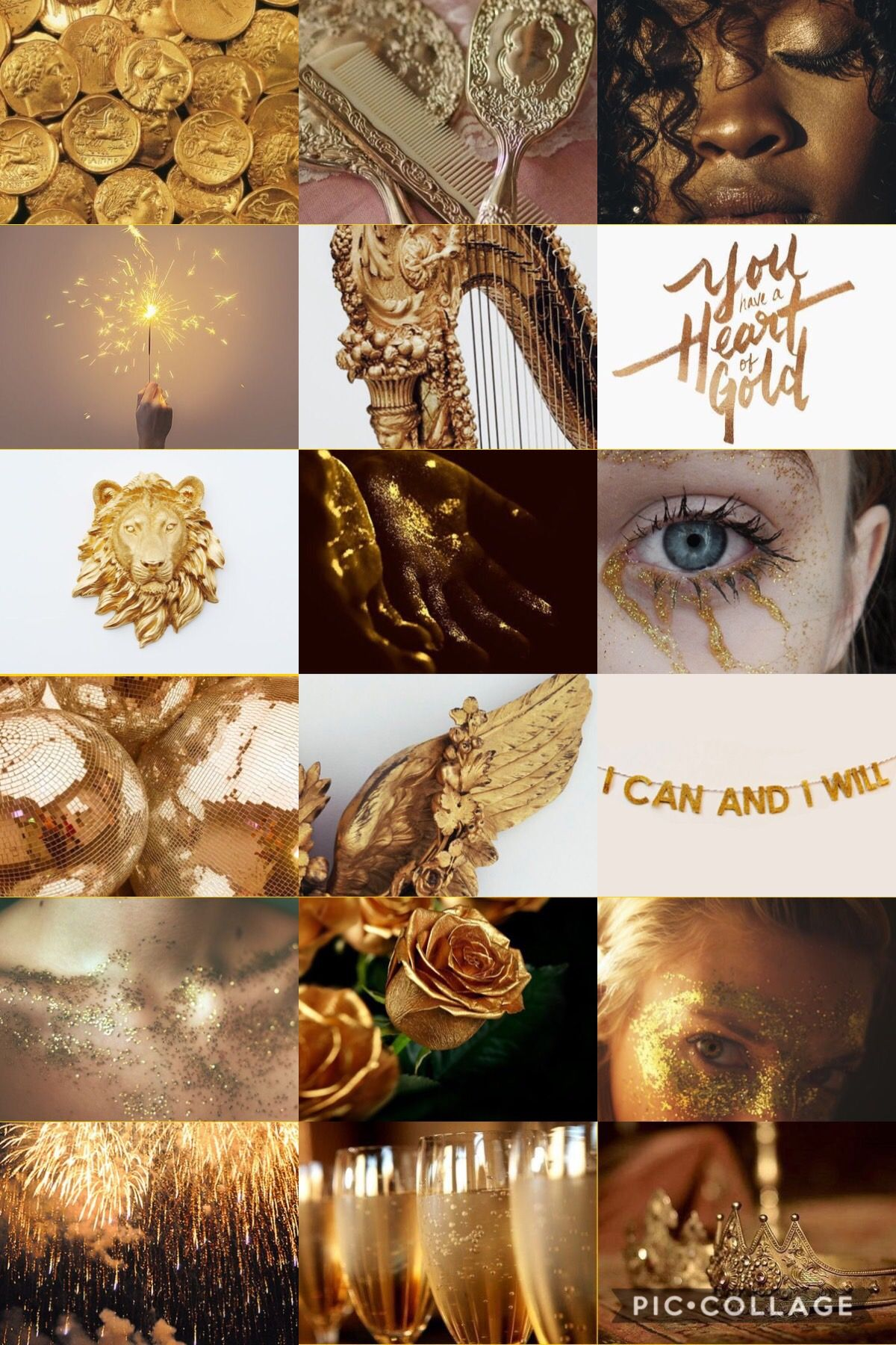 Pin By Aisthetikos On Gold Aesthetic Collage Zodiac Art Gold Aesthetic
