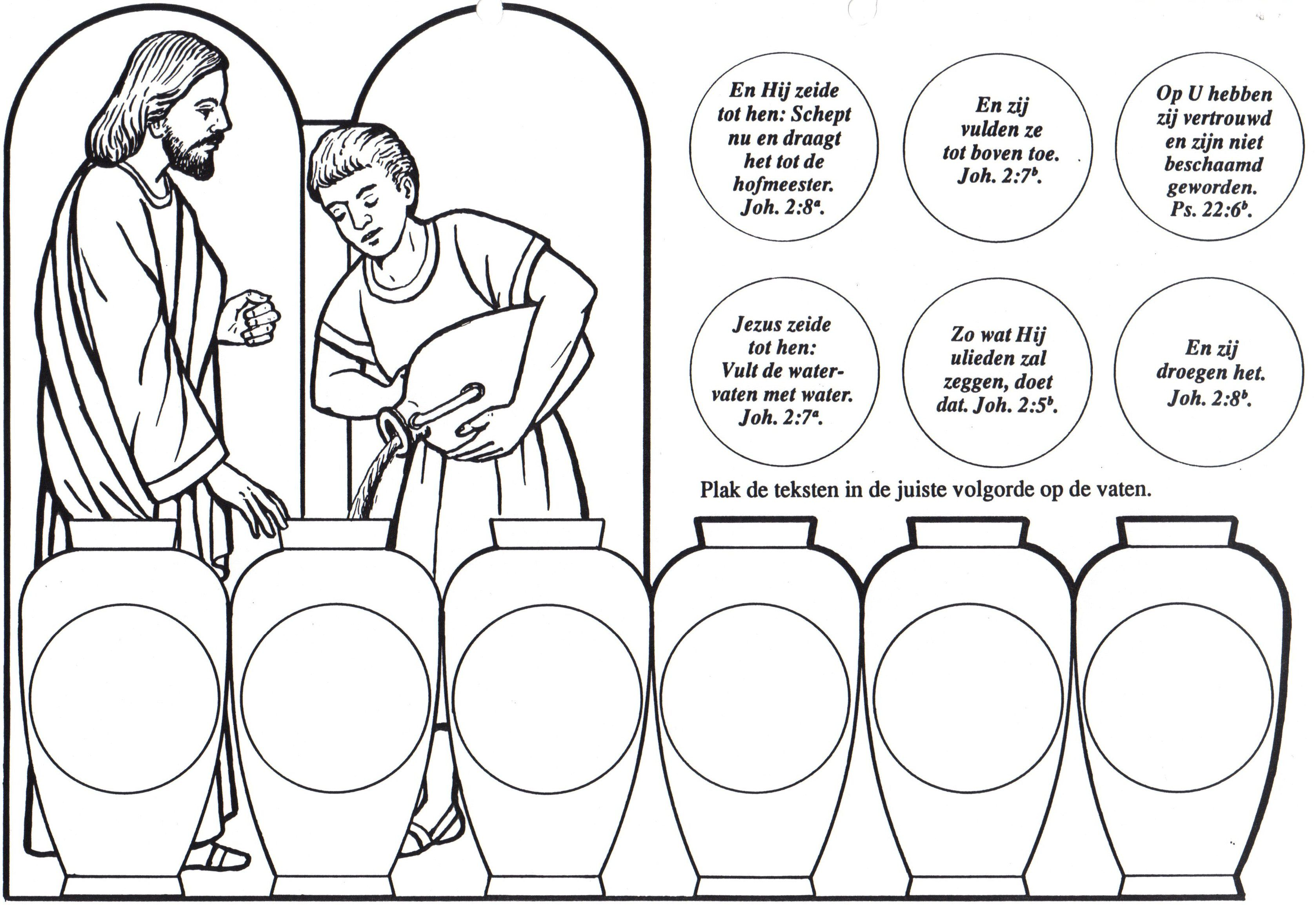 17+ Jesus turns water into wine coloring page download HD