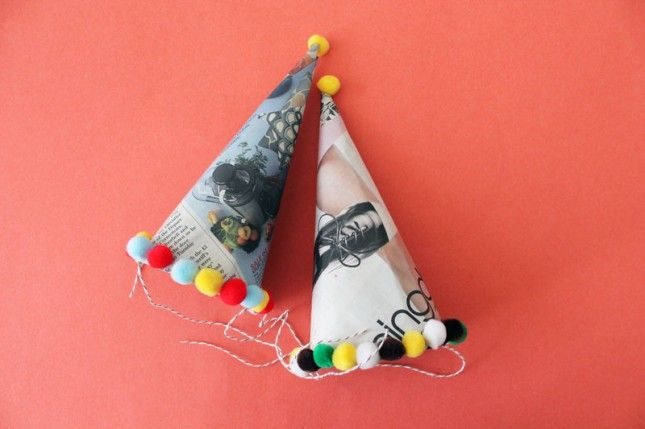 Party Hat | 12 Creative Ways to Repurpose Newspaper