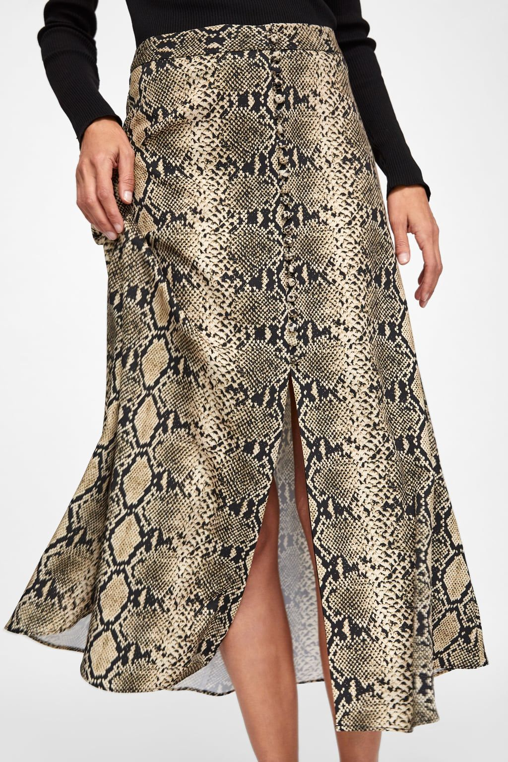 024d1f298c Image 6 of SNAKE PRINT SKIRT from Zara | SKIRTS | Printed skirts ...