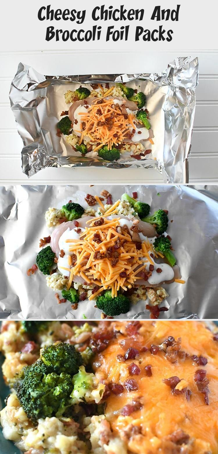 Photo of Cheesy Chicken And Broccoli Foil Packs – Winter Recipes