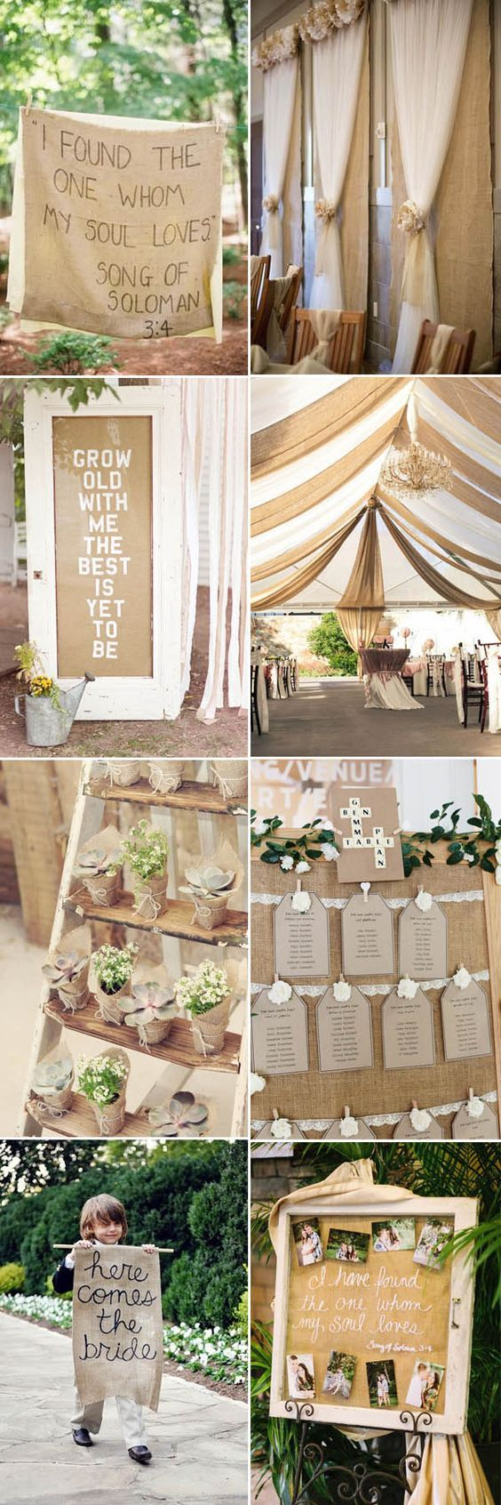 The Most Complete Burlap Rustic Wedding Ideas