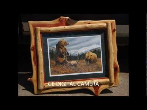 Rustic Log Picture Frames                                                                                                                                                      Más
