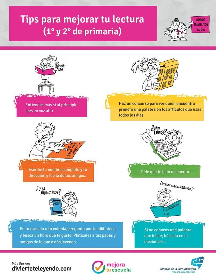 Tips Para Mejorar Tu Lectura 1 Y 2 De Primaria Lectura