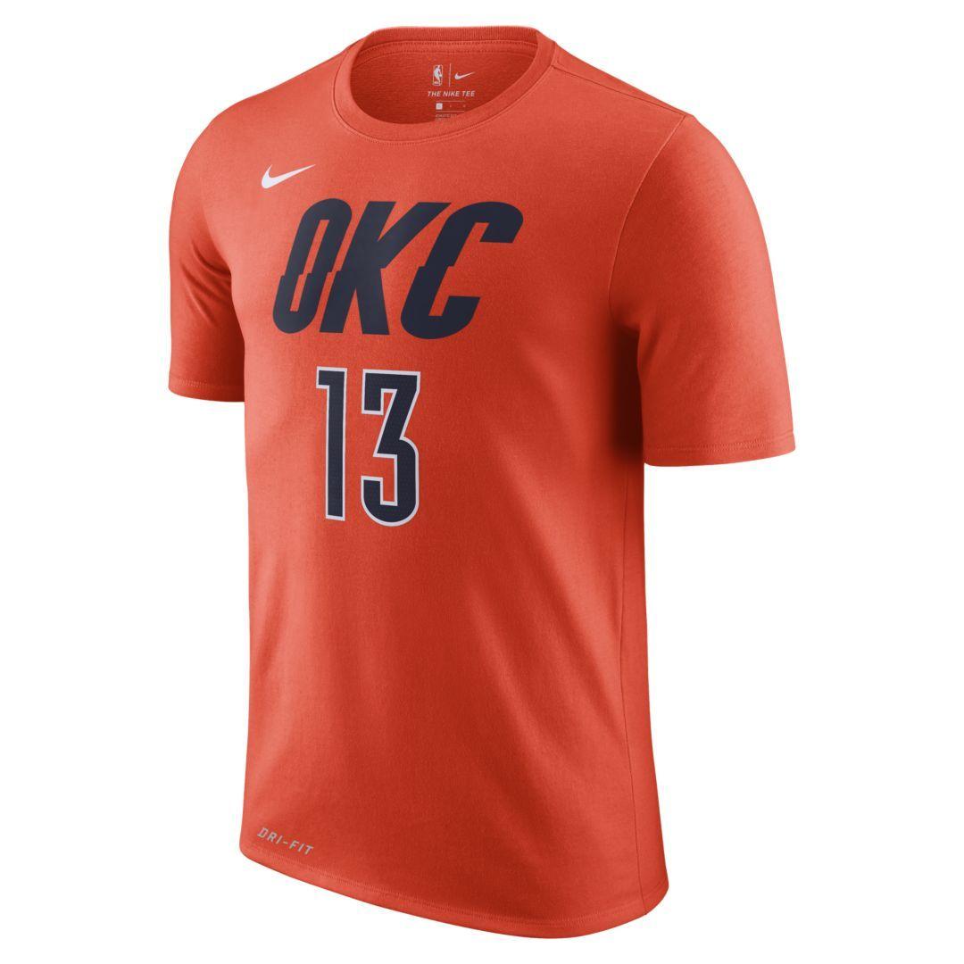 0e21505218b Paul George Oklahoma City Thunder City Edition Nike Dri-FIT Men's NBA T- Shirt Size XL (Team Orange)