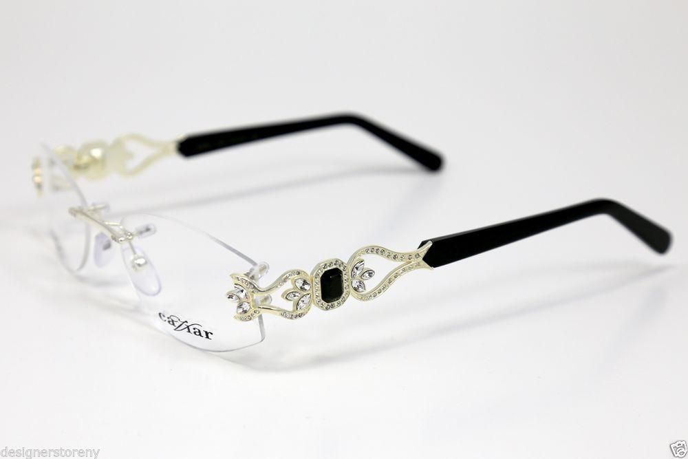 CAVIAR M4867 M 4867 C35 Silver-Black Eyeglass Frame Eyewear 55-18 ...