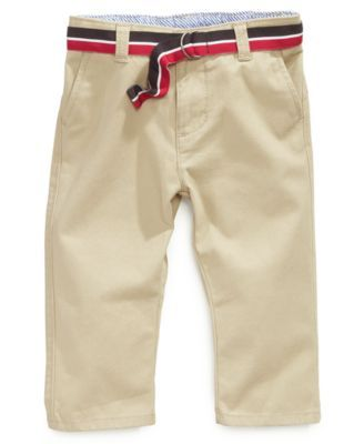 650c68d524493 Baby Boys Chester Khaki Pants | Baby Fever | Tommy hilfiger baby ...